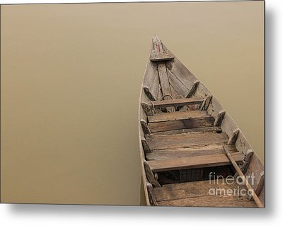 Ghostly Boat Metal Print by David Warrington