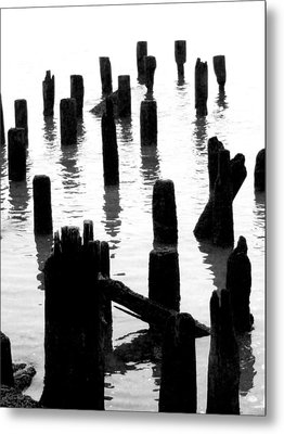 'ghostly Pilings' Metal Print