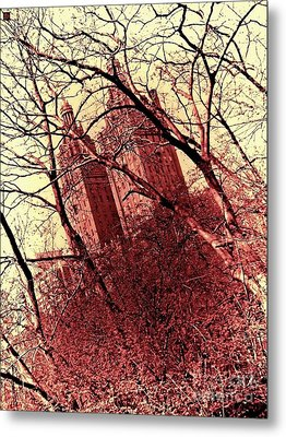 Ghostly Towers Metal Print
