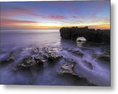 Ghosts In The Cove Metal Print by Debra and Dave Vanderlaan
