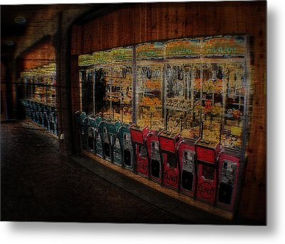 Ghosts Of The Arcades Play Here At Night Metal Print by Doc Braham