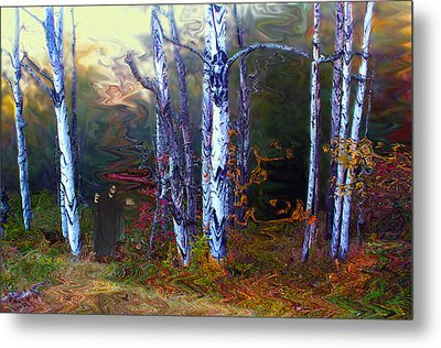 Ghoul In A Halloween Forest Metal Print