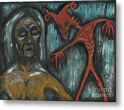 Ghouls At The Cemetery Metal Print by Marisol McKee