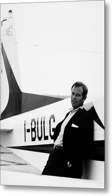 Gianni Bulgari By His Airplane Metal Print by Elisabetta Catalano
