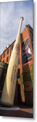Giant Baseball Bat Adorns Metal Print