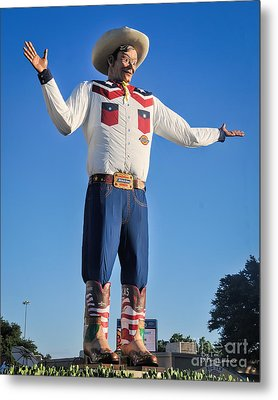 Giant Cowboy Big Tex State Fair Of Texas Metal Print