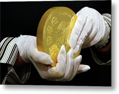 Giant Gold Coin, Russia Metal Print