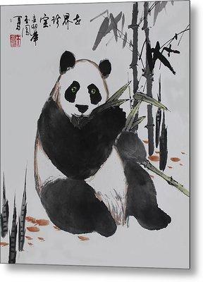 Giant Panda Metal Print by Yufeng Wang