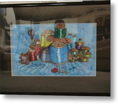 Metal Print featuring the drawing Giant Spools by Joseph Hawkins