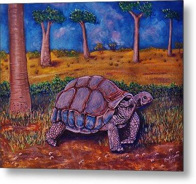 Giant Tortoise Metal Print by Richard Goohs