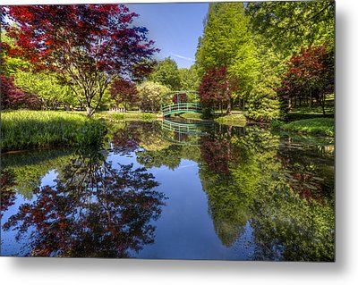 Gibbs Garden Metal Print by Debra and Dave Vanderlaan