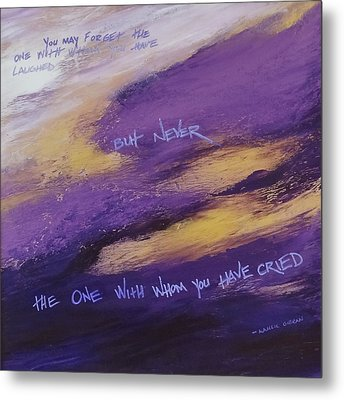 Metal Print featuring the painting Gibran's But Never Poem by Ginny Gaura