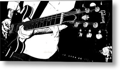 Gibson Guitar Graphic Metal Print by Chris Berry