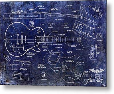 Gibson Les Paul Blueprint Metal Print