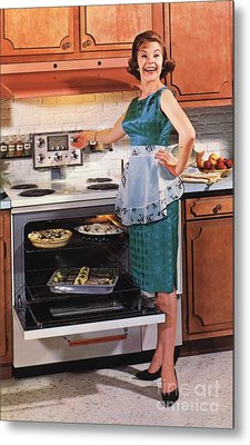 Gibson Ultra 600 1950s Usa Cooking Metal Print by The Advertising Archives