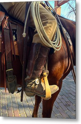 Metal Print featuring the photograph Giddyup by Dee Dee  Whittle
