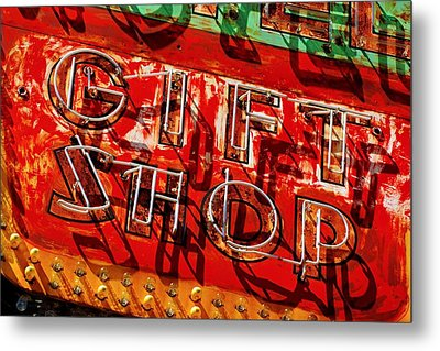 Metal Print featuring the photograph Gift Shop Sign by Daniel Woodrum