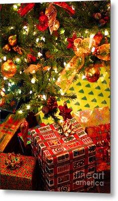 Gifts Under Christmas Tree Metal Print by Elena Elisseeva