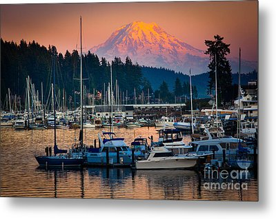 Gig Harbor Dusk Metal Print by Inge Johnsson