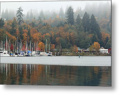 Metal Print featuring the photograph Gig Harbor In The Fog by E Faithe Lester