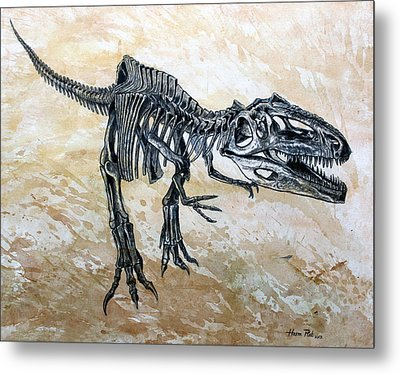 Giganotosaurus Skeleton Metal Print by Harm  Plat