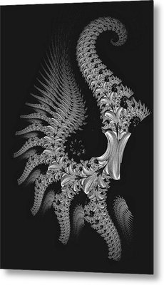 Metal Print featuring the digital art Gigeresque by Lea Wiggins
