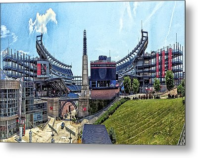 Gillette Stadium  Home Of The New England Patriots Metal Print