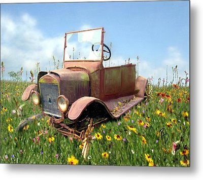 Gimmie Wheels And I'll Be Fine Metal Print by Ric Darrell