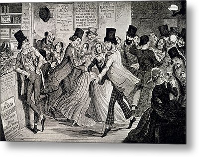 Gin-shop To Dancing-room Metal Print by British Library