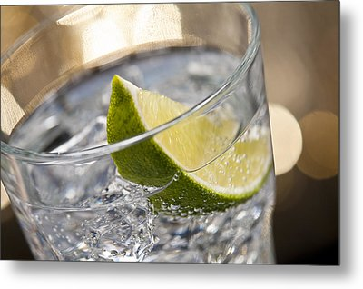 Gin Tonic Cocktail Metal Print by Ulrich Schade