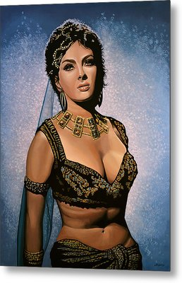 Gina Lollobrigida Painting Metal Print by Paul Meijering