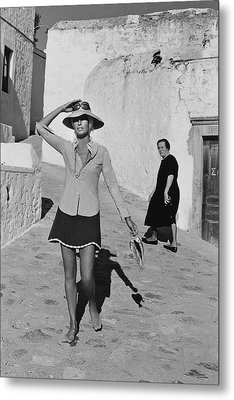 Ginette Camo In Patmos Metal Print by Henry Clarke