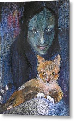 Ginger Cat Metal Print