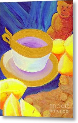 Ginger Lemon Tea By Jrr Metal Print