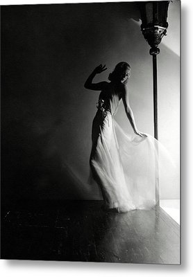 Ginger Rogers Wearing An Evening Gown Metal Print