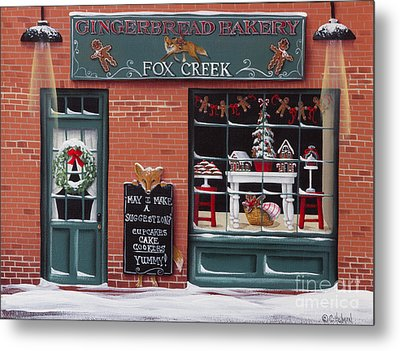 Gingerbread Bakery At Fox Creek Metal Print by Catherine Holman