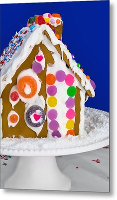 Metal Print featuring the photograph Gingerbread House by Vizual Studio