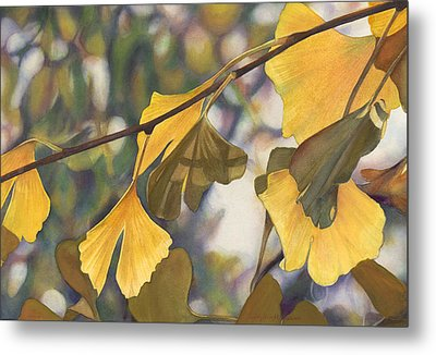 Ginkgo Gold Metal Print by Sandy  Haight