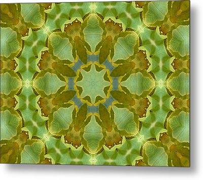 Metal Print featuring the photograph Ginkgo Leaf Kaleidoscope Mandala by MM Anderson