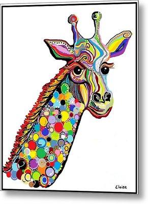 Giraffe Metal Print by Eloise Schneider