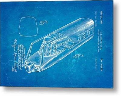 Girardy Railway Observation Car Patent Art 1951 Blueprint Metal Print by Ian Monk
