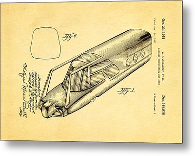 Girardy Railway Observation Car Patent Art 1951 Metal Print by Ian Monk