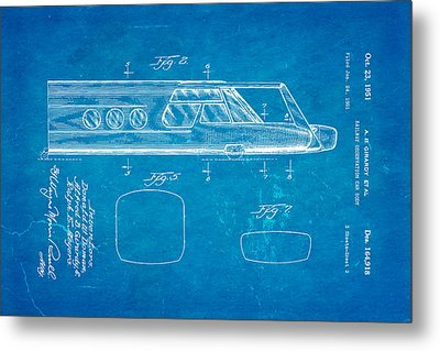 Girardy Railway Observation Car Patent Art  2 1951 Blueprint Metal Print by Ian Monk
