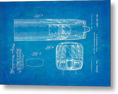 Girardy Railway Observation Car Patent Art  3 1951 Blueprint Metal Print by Ian Monk