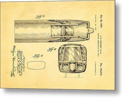 Girardy Railway Observation Car Patent Art  3 1951 Metal Print by Ian Monk