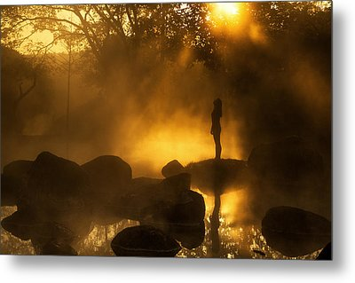 Girl At Hotspring Metal Print by Arthit Somsakul