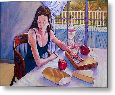 Girl Having Lunch At Montlake Metal Print