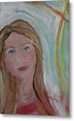 Girl In The Sun Metal Print by Made by Marley