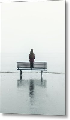 Girl On A Bench Metal Print by Joana Kruse