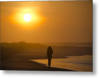 Girl On The Beach  Metal Print by Bill Cannon